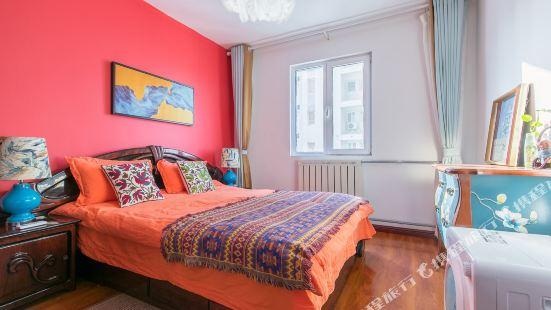 濟南布藝紋樣師色彩斑斕的家公寓