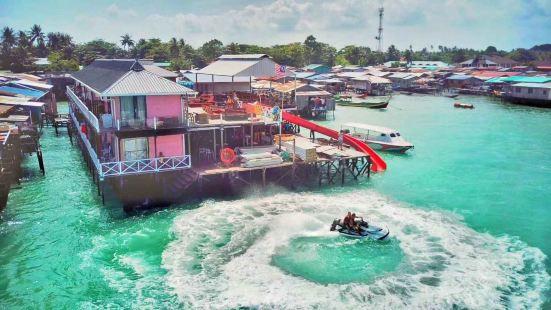 海景coco水屋套餐包三餐往返船費出海浮潛