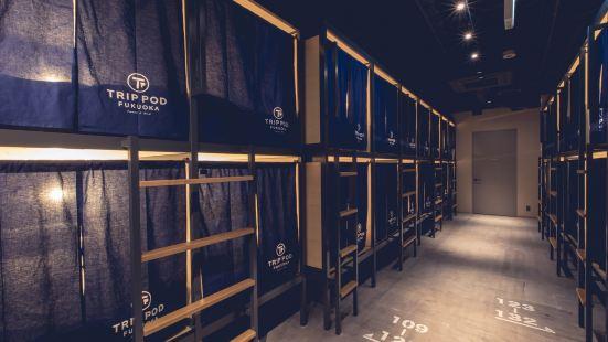 福岡旅行膠囊旅館 零食和床