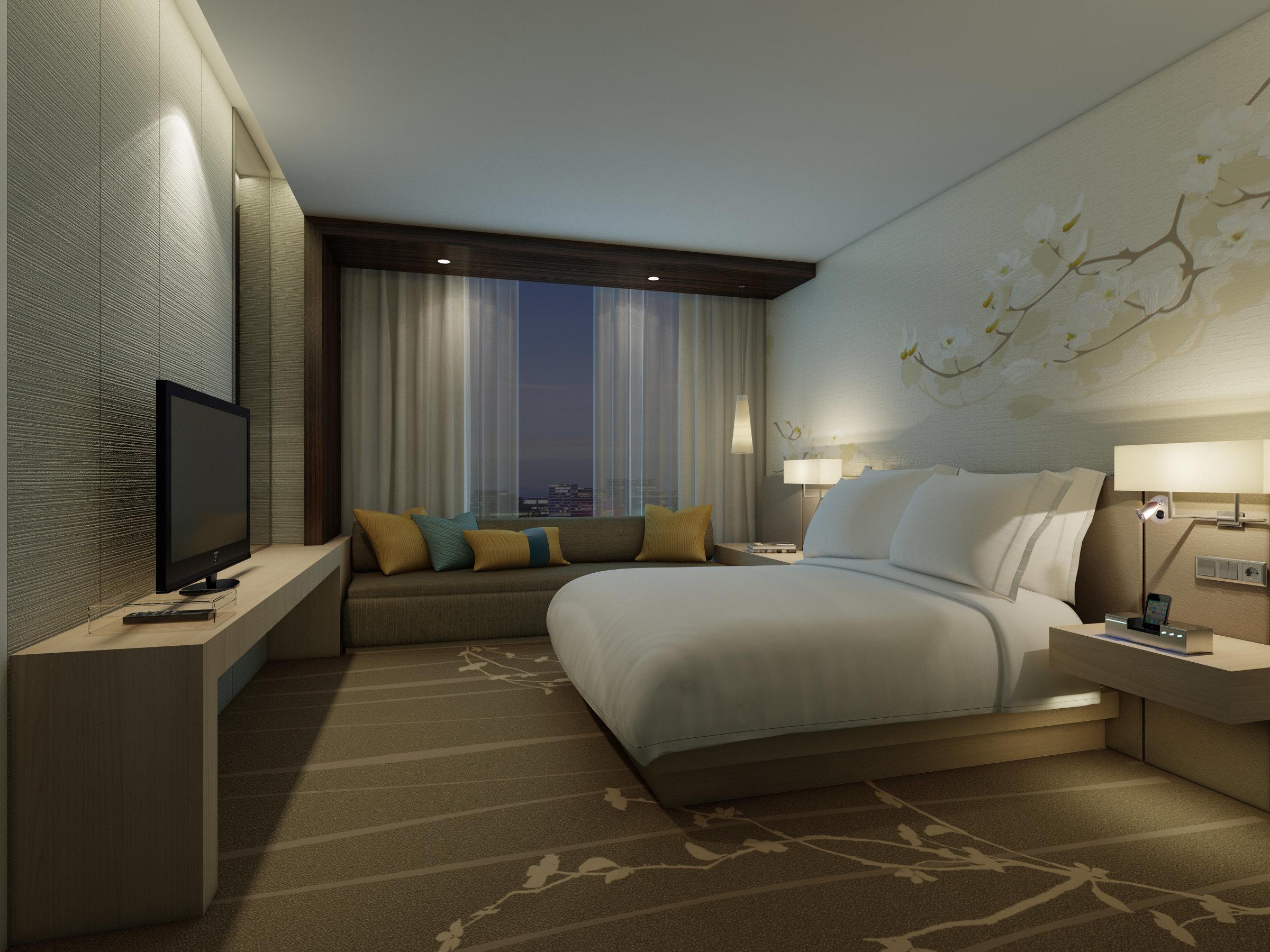 西安阳光城希尔顿花园酒店-花园客房(大床)[单早]