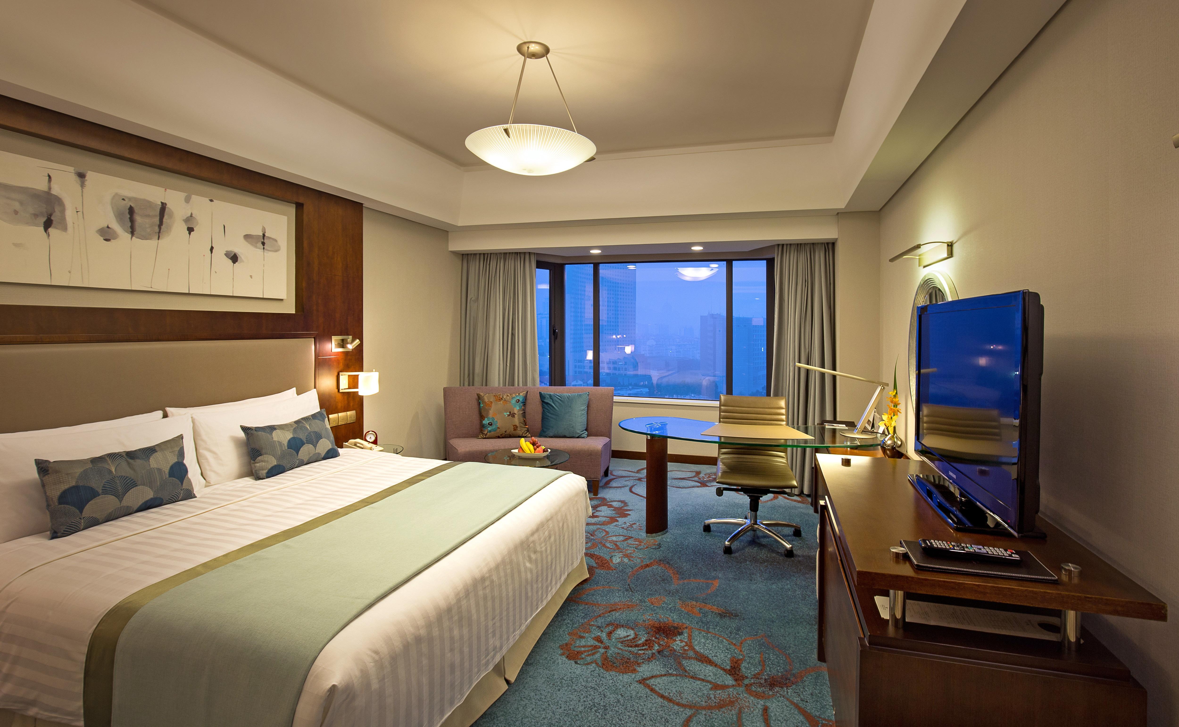青岛香格里拉大酒店-青香阁豪华客房[无早](大床)