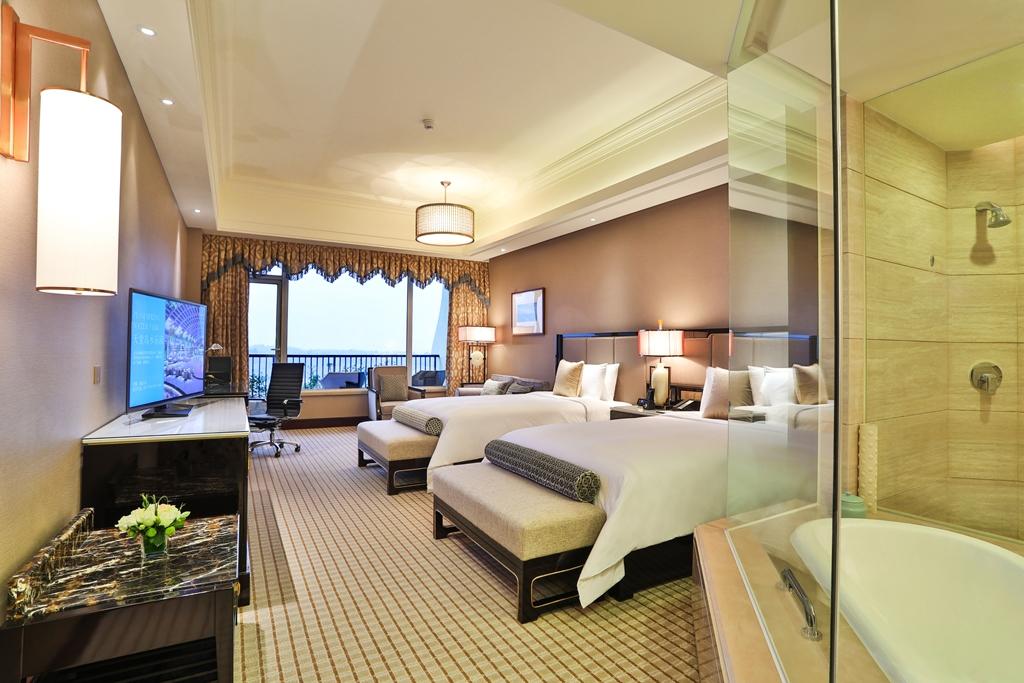 成都三岔湖长岛天堂洲际酒店(高级山景双床房 乐园)
