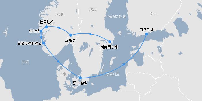 北欧四国线路图
