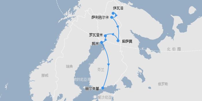 极光之旅线路图