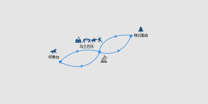 【一生一次·最炫民族风】蒙古人文自然5天4晚·《孤独星球》推荐+那达慕庆典VIP席+奢华蒙古包+尊贵入境服务+呼斯台野马群下山奇景+成吉思汗雕像