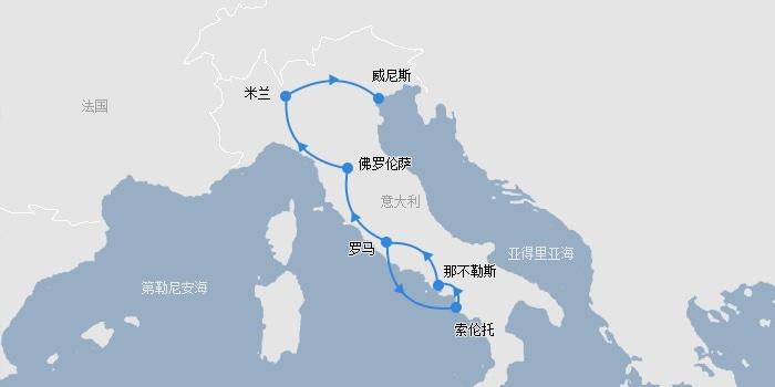 意大利法拉利自驾线路图
