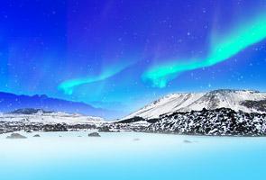 冰岛追极光