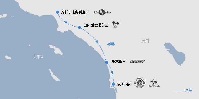 美西乐园线路图