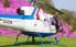 直升机俯瞰芝樱花毯