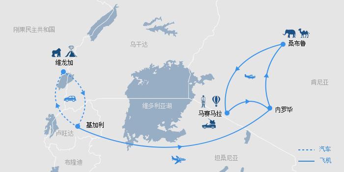 猩球乐园刚果肯尼亚路线图