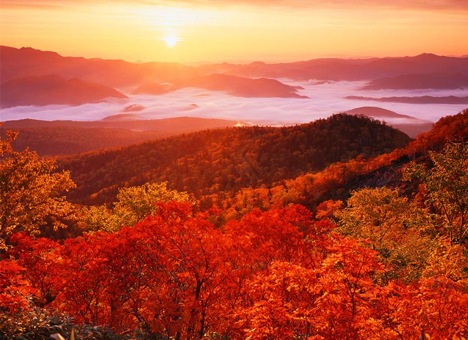 层云峡红枫美景