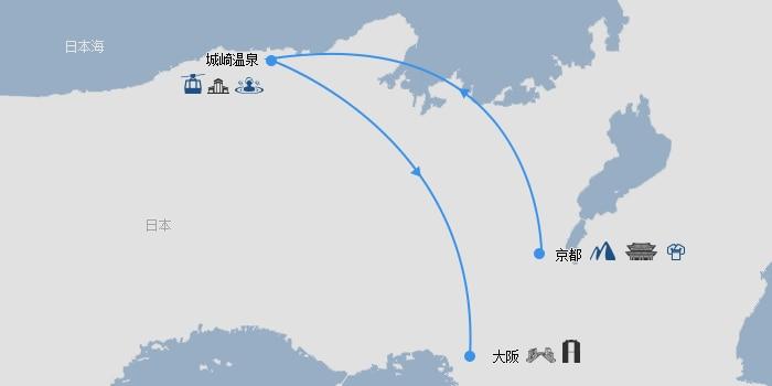 京都城崎温泉大阪线路图