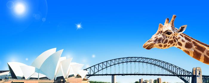 澳大利亚.悉尼动物园 黄金海岸游乐园 墨尔本9天