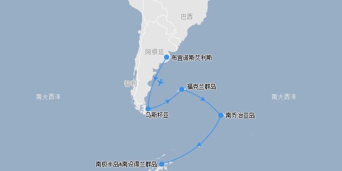 南极动物地图图