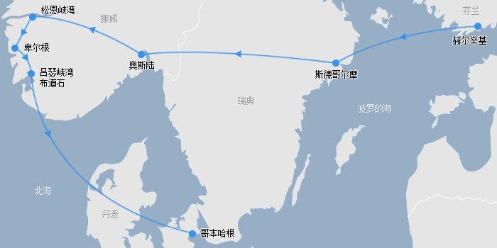 一路向北布道石路线图