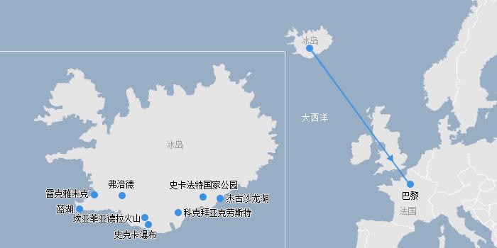 冰岛路线图