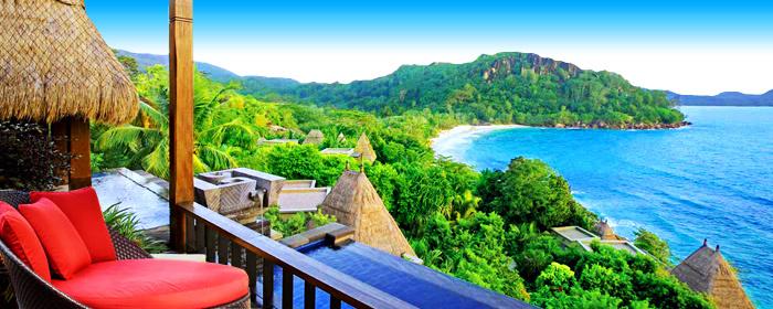 奢华别墅享管家服务绝美海滩,悬崖餐厅浪漫晚餐