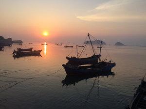 長海哈仙島一盞燈漁家