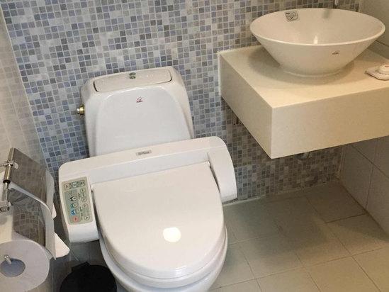 酒店的性价比很高,房间在韩国同等的四星级里算比较大了,设施什么的比较新,床上用品、毛巾什么的也很干净,前台MM和打扫卫生的保洁员都很有礼貌,不足:浴室比较小,而且热水供应不是很稳定,时冷时热的,WIFI信号不太好,只能微信打字聊天,图片很难打开,我们一般都用的自己的WIFI;亮点:前台放了行李秤,收拾行李之后去前台称重,避免了上飞机超重。周边交通方便,离机场大巴和地铁站都不远,离首尔性价比最高的都塔免税店也非常近。 周边交通方便,离机场大巴和地铁站都不远,离明洞、免税店挺近的,打的士也就3、4千韩元,不过