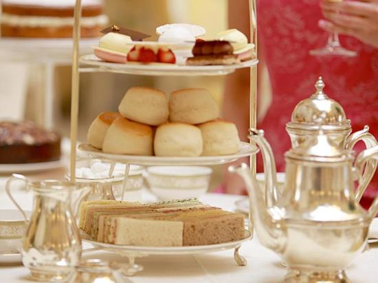 Afternoon tea at the ritz with champagne