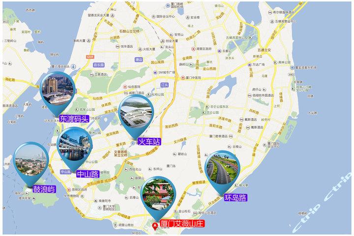 厦门艾薇庄园—地图