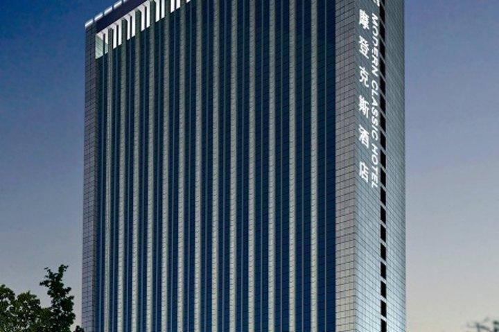 摩登大厦黑白手绘图