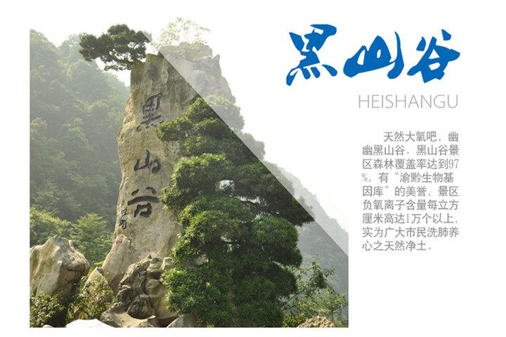 重慶黑山谷(風景區門票1張)