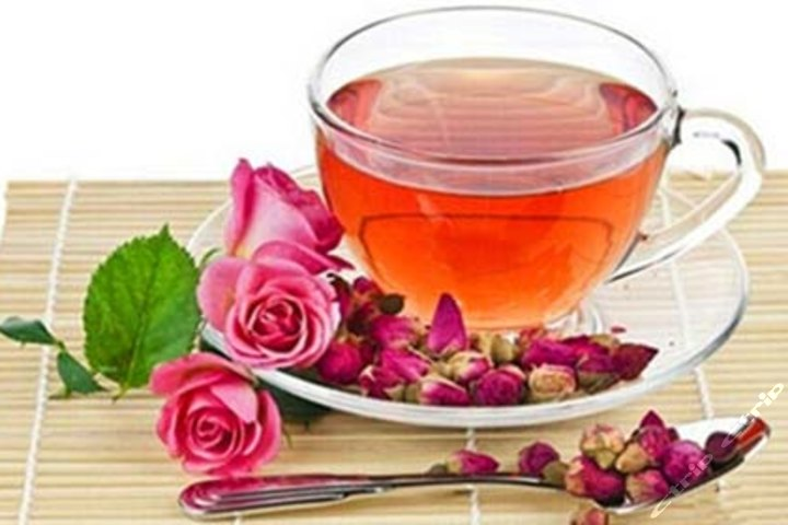聊天泡玫瑰花茶