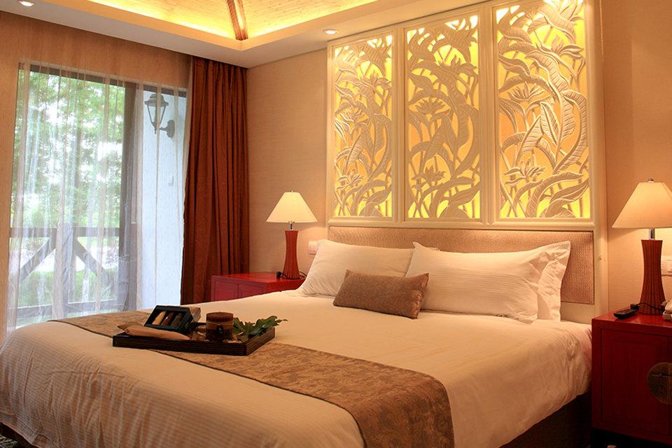 上海太阳岛度假酒店-岛屿豪华大床房 双早