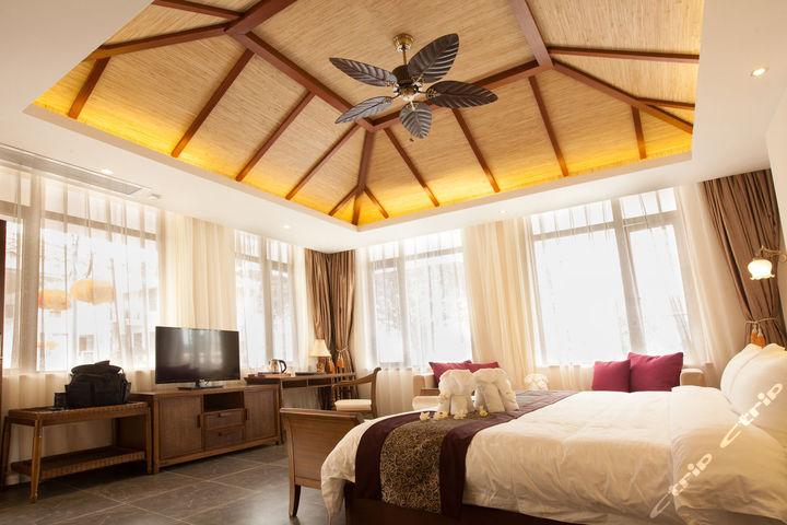 三亚亚龙湾山湖海酒店v酒店别墅-别墅一意大床图什么什么别墅是负意思的是层园景思什么图片