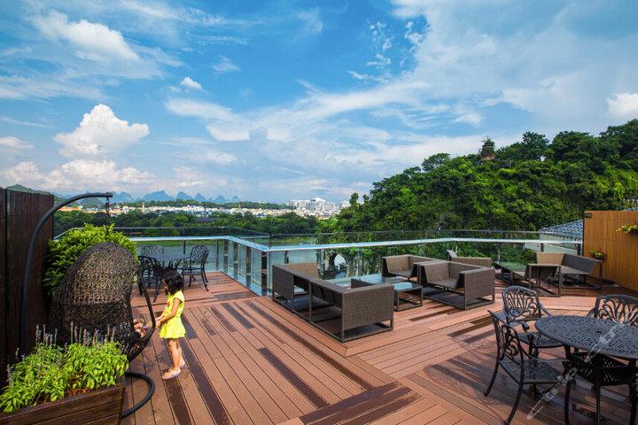桂林万鹂金象酒店—顶楼露台