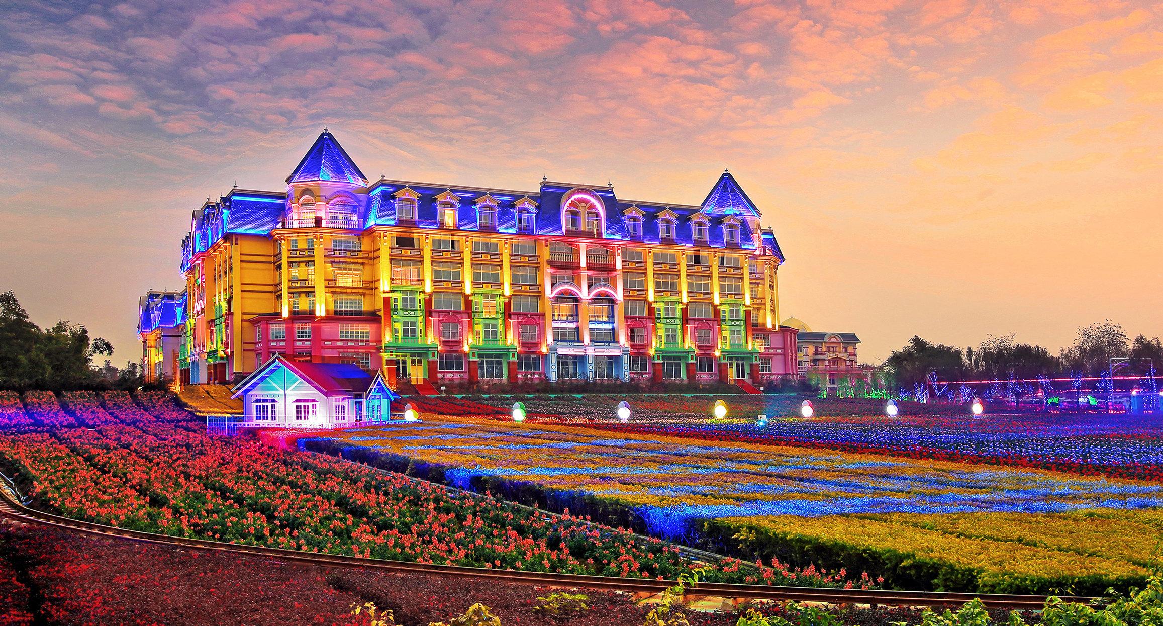 广州花之恋国际城堡酒店双人两天一夜百万葵园