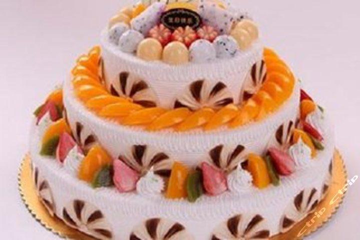 价值250元16英寸三层蛋糕