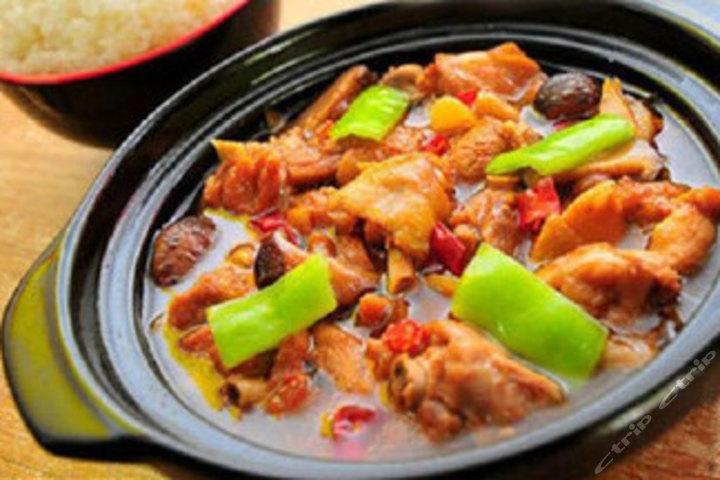 鸡煲饭套餐鲜椒鸡-鸡煲饭套餐