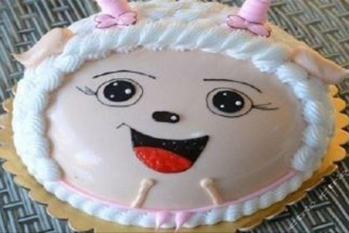 价值88元8寸喜羊羊蛋糕
