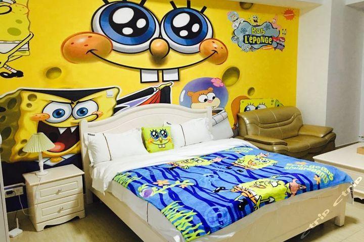 长隆儿童动漫主题式酒店公寓-海绵宝宝大床房