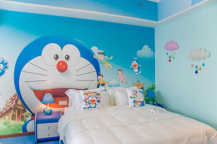 广州长隆儿童动物总动员主题式酒店公寓-多啦a梦大床