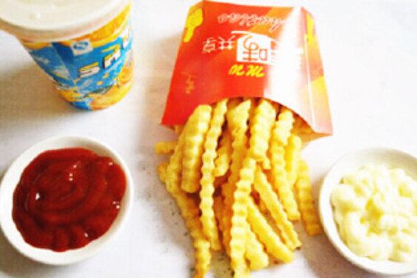 汉堡薯条手工制作图片