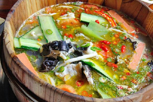生态木桶鱼