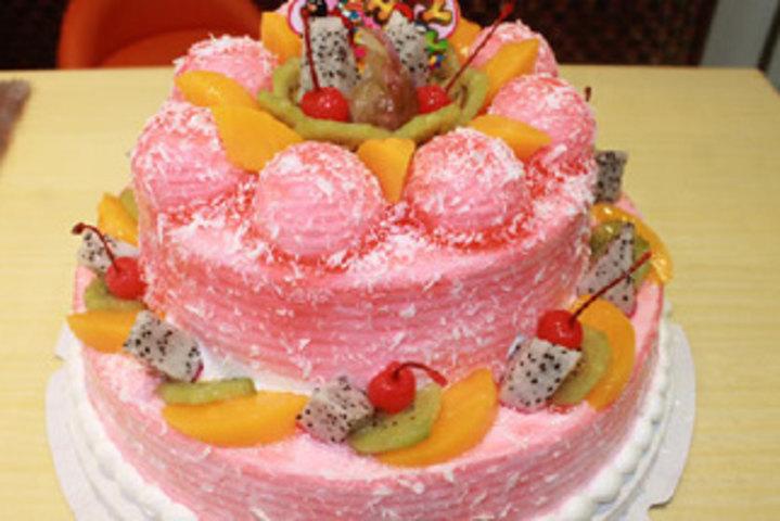 仅售125元,价值210元两层水晶蛋糕!