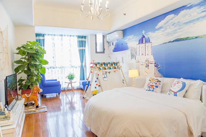 广州长隆儿童动物总动员主题式酒店公寓-地中海圆床