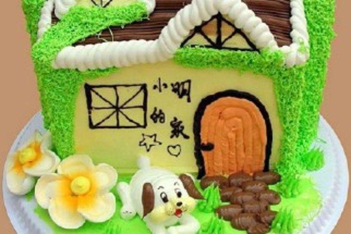 仅售68元,价值108元10英寸小房子生日蛋糕!