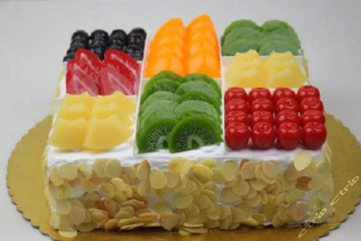仅售138元,价值159元14寸方形水果拼盘蛋糕!