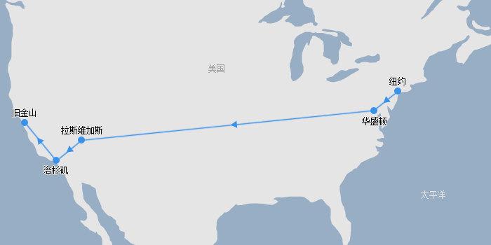 纽约-华盛顿-拉斯-洛杉矶-旧金山