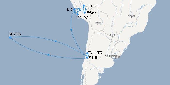 上海到秘鲁飞机
