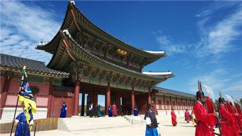 韩国代表建筑简笔画