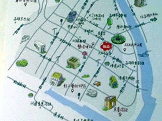 手绘周边地图