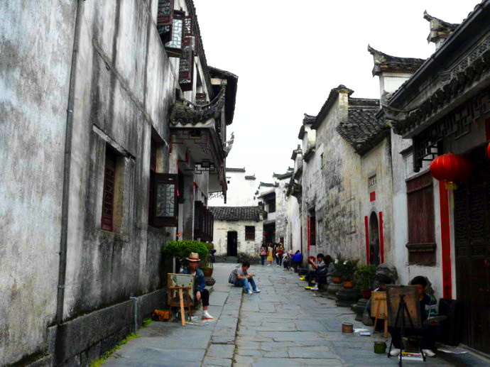 古镇 建筑 街道