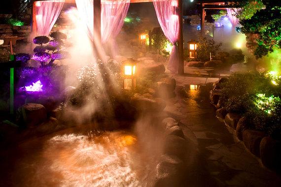 苏州树山温泉夜景
