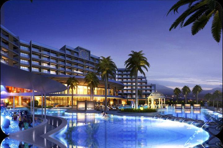 三亚亚龙湾海景国际度假酒店(原三亚亚龙湾假日酒店)—酒店泳池夜景